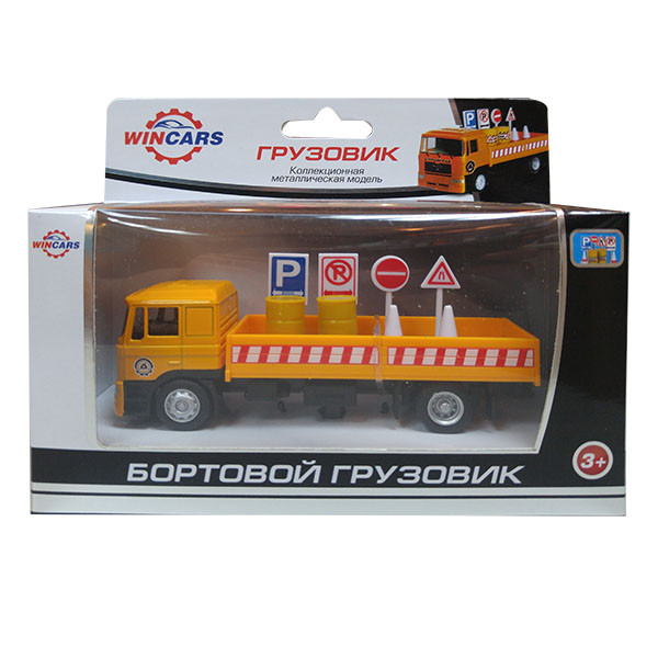 Wincars Коллекционная металлическая модель Бортовой грузовик