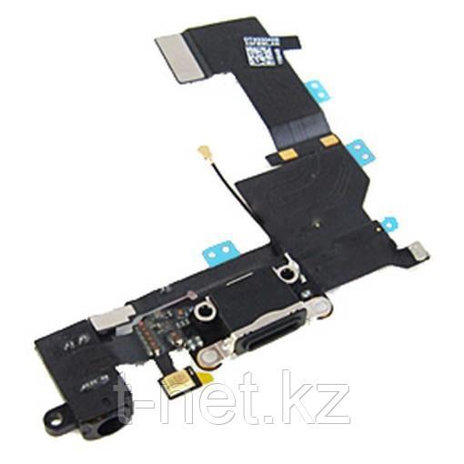Шлейф iPHONE 5SE на зарядку, с микрофоном и наушники - фото 1