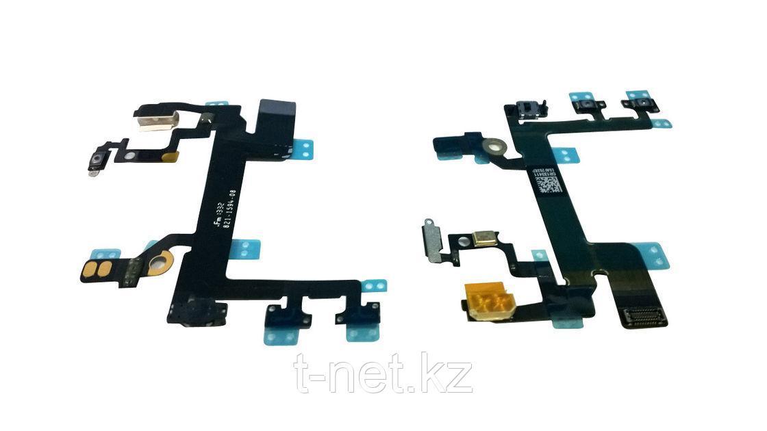 Шлейф Apple iPhone 5s, на кнопки вкл/выкл и громкости c вспышкой