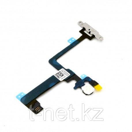 Шлейф Apple iPhone 6 Plus, на кнопку включения с микрофоном - фото 1