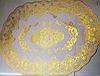 Овальная салфетка с золотым декором 45х30 см, фото 2