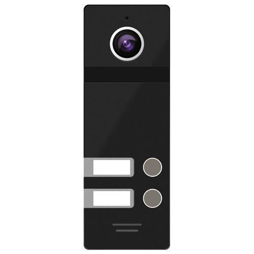 FANTASY 2 BLACK - Панель вызова видеодомофона на 2-х абонентов (цвет - чёрный).