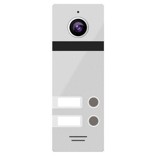 FANTASY 2 SILVER  - Панель вызова видеодомофона на 2-х абонентов (цвет - серебристый).
