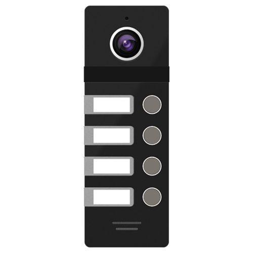 FANTASY 4 BLACK - Панель вызова видеодомофона на 4-х абонентов (цвет - чёрный).