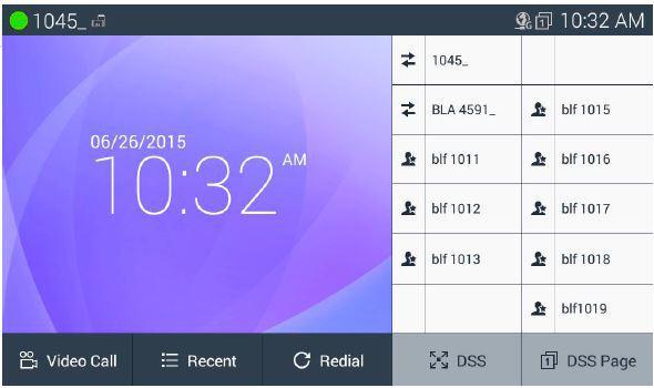 IP видеотелефон LIP-9071. Главный экран