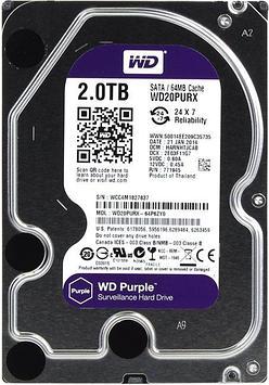 Жесткий диск WD Purple 2 Тб WD20PURX