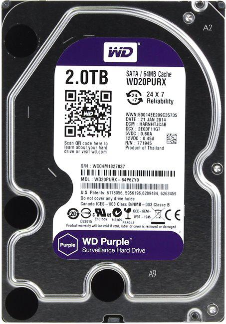 Жесткий диск WD Purple 2 Тб WD20PURX