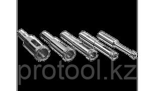 Набор сверл алмазных трубчатых по кафелю и стеклу с кондуктором, d=4, 6, 8, 10, 12 мм, 5 предметов, ЗУБР Профе, фото 2