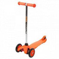 Самокат трехколесный 21st scooter maxi со светящимися колесами (оранжевый)