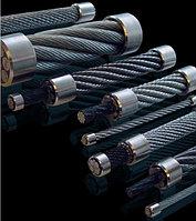 Канат стальной 9.7 мм ГОСТ 7681-80 Ст10 двойная свивка без покрытия