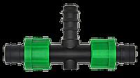 Тройник d 17х16х17 мм для капельной ленты.