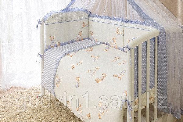 PERINA Комплект в кровать 7 предметов ТИФФАНИ НЕЖЕНКА  Молочный/голубой Т7-01.4