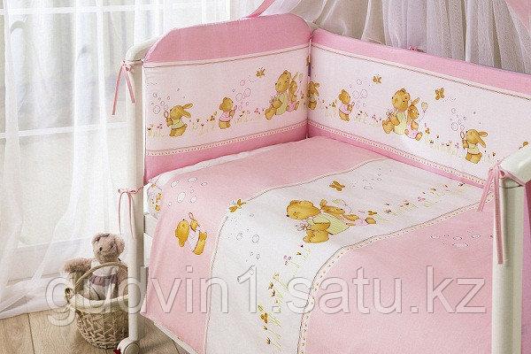 PERINA Комплект в кровать 7 предметов ФЕЯ ЛЕТО Розовый Ф7-01.3