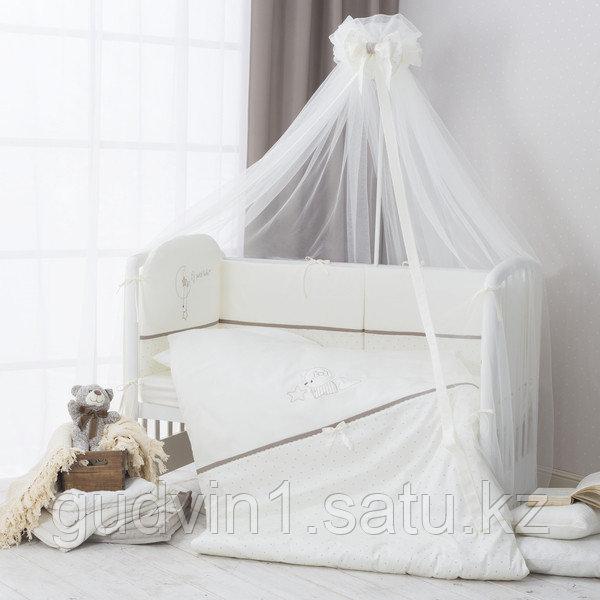 PERINA Комплект в кровать 3 предметов  LE PETIT BEBE ПБ3-01.5  молочно-кофейный
