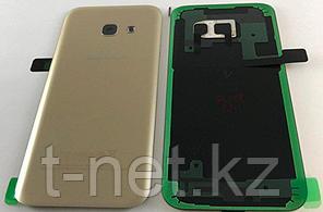 Задняя Крышка Samsung A7 2017 A720, цвет черный, золотой