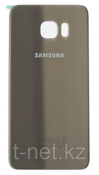 Задняя Крышка Samsung S6 EDGE, цвет золотой