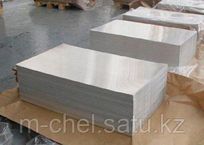 Лист алюминиевый 35 мм д16б гладкий РИФЛЕНЫЙ