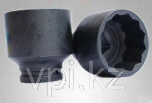 """Торцевая головка BIHEX-двенадцатигранник ударная черная,  55мм 1"""" De&Li"""