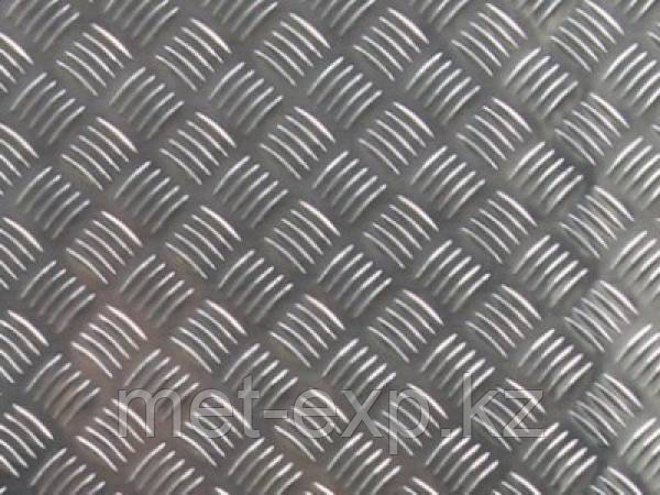 Лист рифленый 4,5 мм Ст3пс ГОСТ 19903-77 РЕЗКА в размер ДОСТАВКА