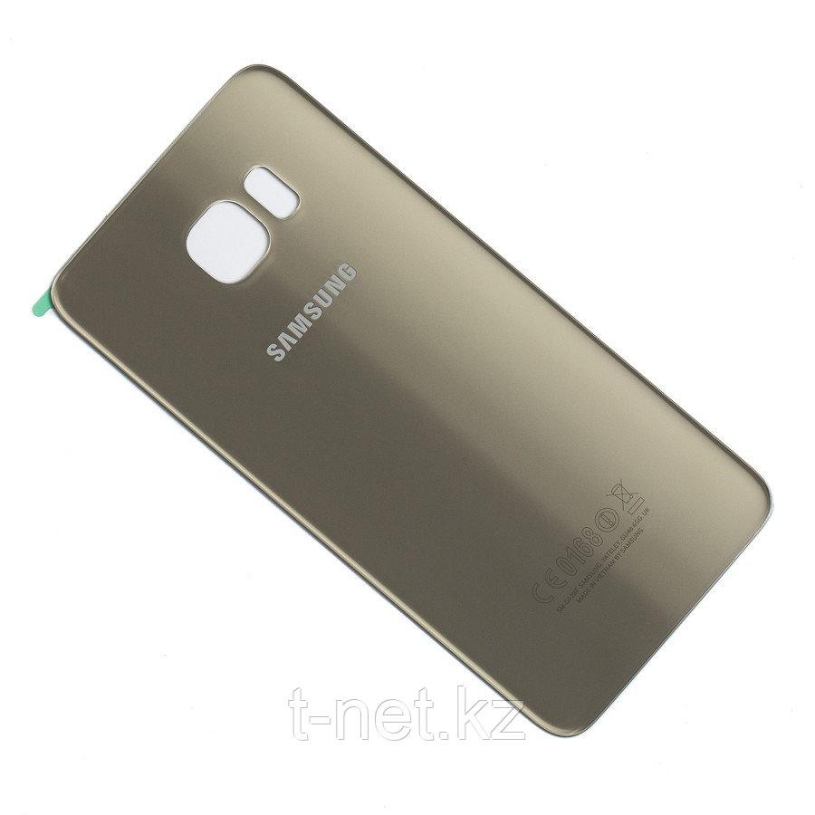 Задняя Крышка Samsung S6 edge plus, цвет Gold