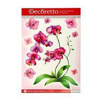 Наклейки интерьерные 'Акварельная орхидея'
