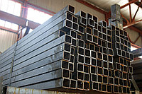Труба профильная стальная 80 х 15 мм AISI 316 сварная 6м и 12м