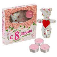 Подарочный набор игрушка и свечи плавающие 'С 8 марта', 15 х 15 см
