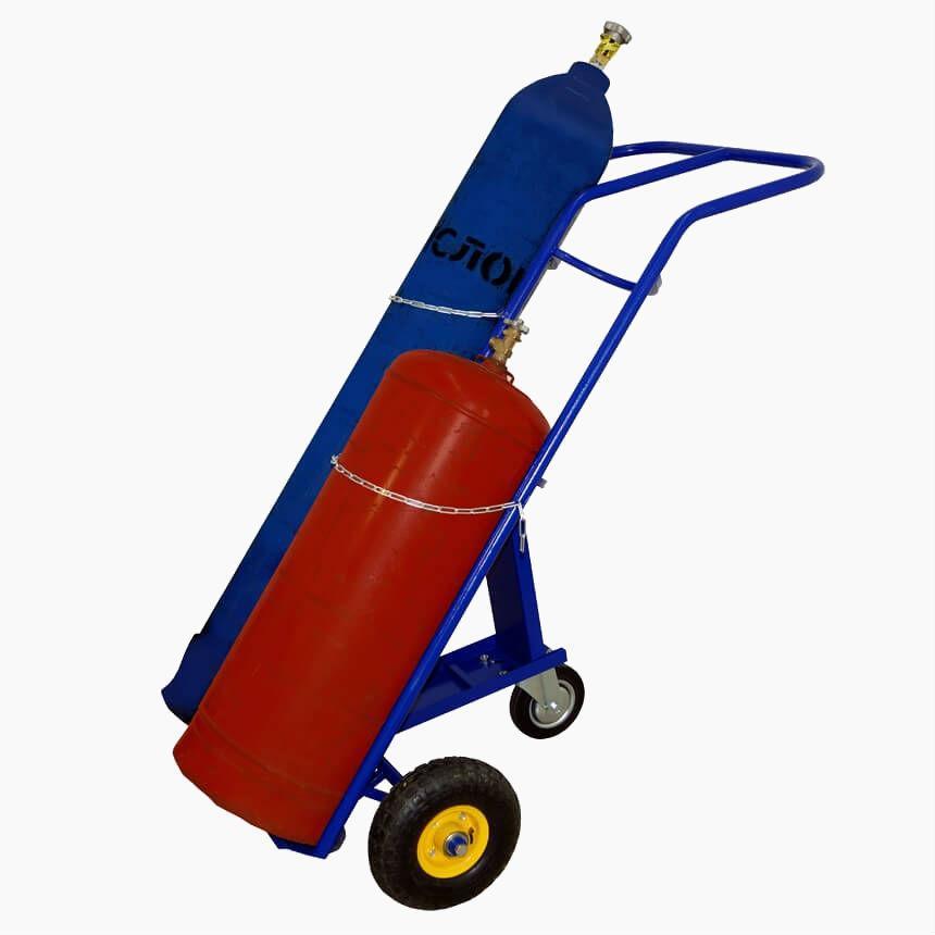 Тележка для перевозки двух газовых баллонов КП-2