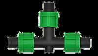 Тройник соединительный 17 мм для капельной ленты