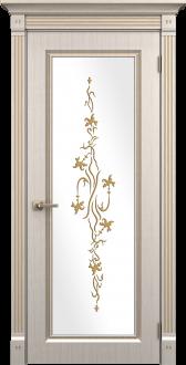 Межкомнатная  двери эмаль модель Милетто белый шелк