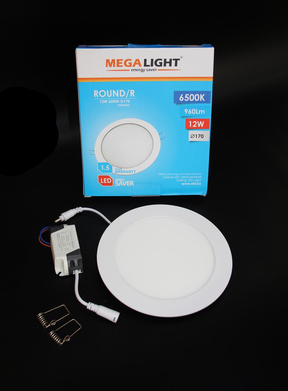 Светильник LED Спот встр. ROUND/R 12w MEGALIGHT NEW