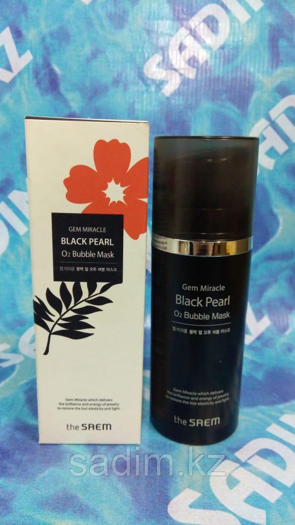 The Saem Gem Miracle Black Pearl O 2 Bubble Mask - Кислородная маска с экстрактом черного жемчуга