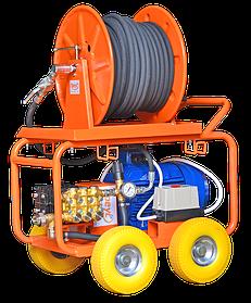 Гидродинамические аппараты для очистки канализационных труб с электроприводом