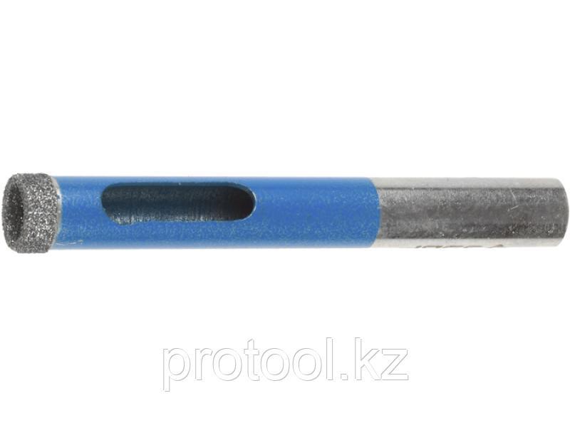 Сверло алмазное трубчатое по стеклу и кафелю, d=12 мм, зерно Р 100, ЗУБР Профессионал