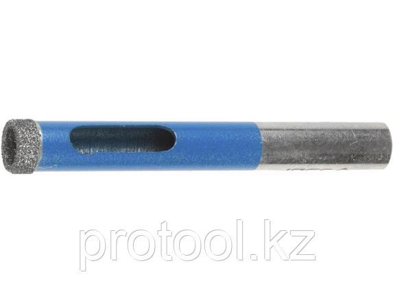 Сверло алмазное трубчатое по стеклу и кафелю, d=12 мм, зерно Р 100, ЗУБР Профессионал, фото 2