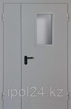 Металлическая противопожарная дверь Verda  ДМП комбинированная