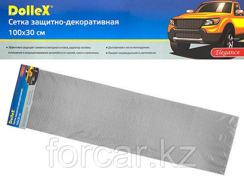 Облицовка радиатора (сетка декоративная) алюминий, 100 х 30 см, черная, ячейки 15мм х 4,5мм, фото 2