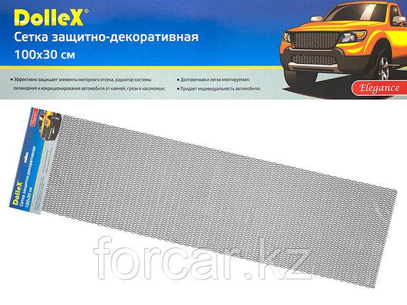 Облицовка радиатора (сетка декоративная) алюминий, 100 х 30 см, черная, ячейки 20мм х 6мм 'сота', фото 2