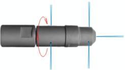 Форсунки с вращающимся ротором и передними струями воды