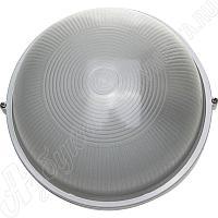 Светильник уличный влагозащищенный, круг, цвет белый, 100 Вт, СВЕТОЗАР,