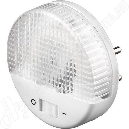 Светильник-ночник, U-образная люминесцентная лампа, с выключателем, 1W, цветовая температура 2700 К, СВЕТОЗАР,