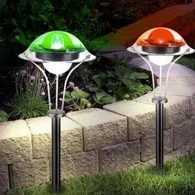Светильники садовые на солнечных панелях