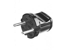 Вилка электрическая Stayer Master  (6 А, 220 В, черная)