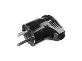 Вилка электрическая угловая Stayer Master  (заземление, 16 А, 220 В, черная)