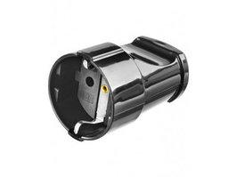 Розетка электрическая Stayer Master (заземление, 16 А, 220 В, черная)