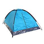 Палатка туристическая SANDE 2-х местная, цвет синий , фото 3