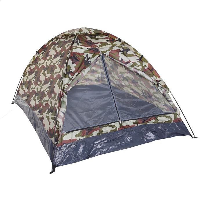 Палатка туристическая SANDE II 2-х местная, цвет милитари