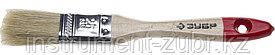 """Кисть плоская ЗУБР """"УНИВЕРСАЛ-СТАНДАРТ """", натуральная щетина, деревянная ручка, 25мм"""