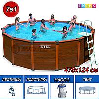 Круглый каркасный бассейн Intex 28382, Sequoia Spirit, размер 478x124 см, фото 1