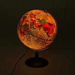 """Глобус на деревянной подставке физический диаметр 250мм """"Элеганс"""", с подсветкой , фото 2"""